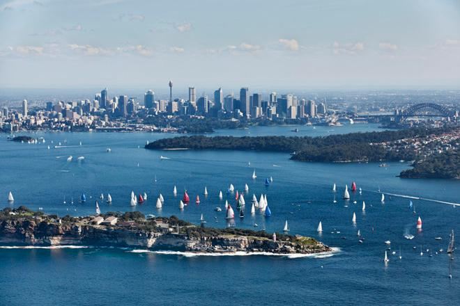 Alt_Start of the 2013 Sydney Gold Coast Yacht Race. Credit Andrea Francolini1